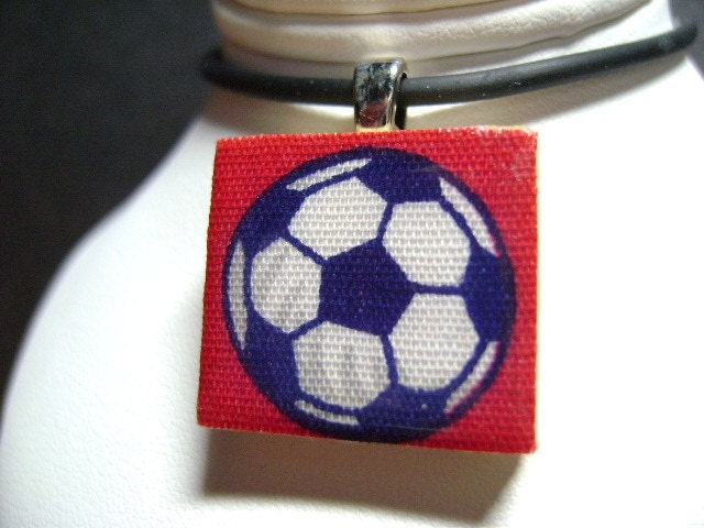 FREE SCRABBLE TILE PENDANT  with PURCHASE of 2 Pendants- 'SOCCER BALL'  SCRABBLE TILE PENDANT