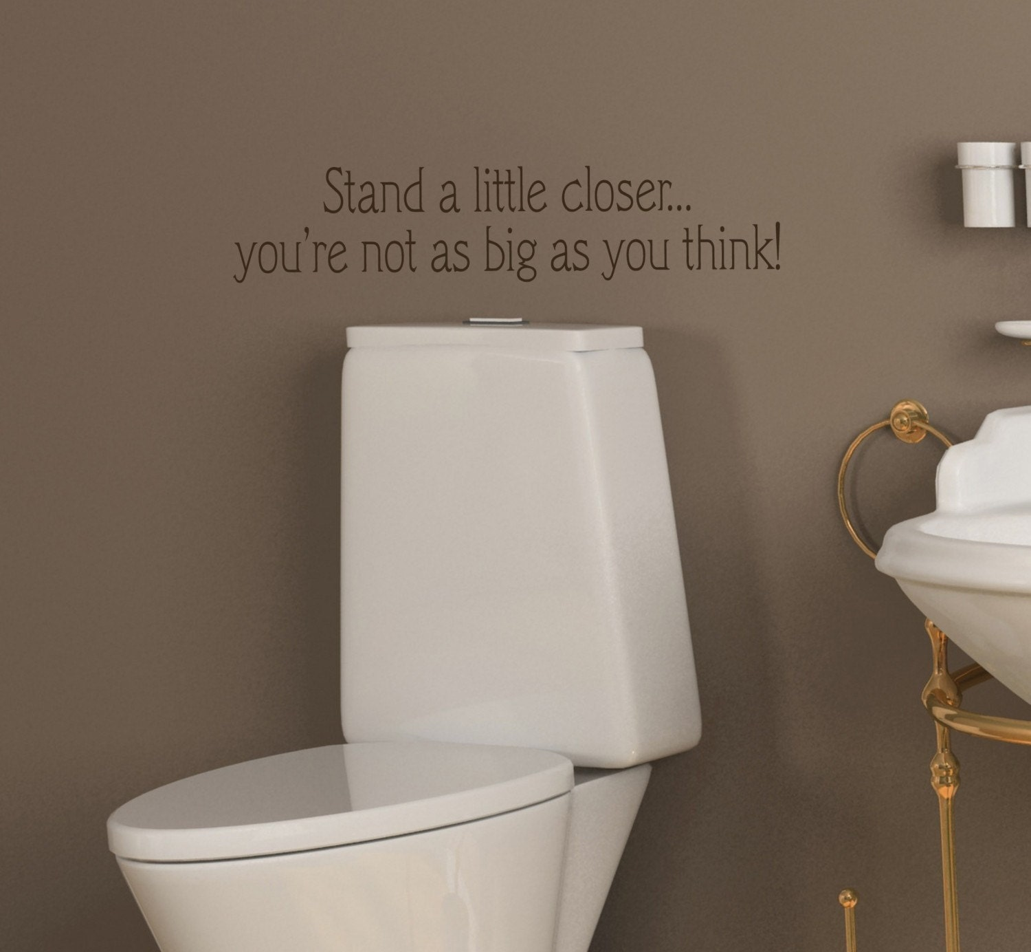 20x5 Funny Bathroom Toilet Stand a little closer Vinyl Wall Lettering Words Quotes Decals Art Custom Willow Creek Signs