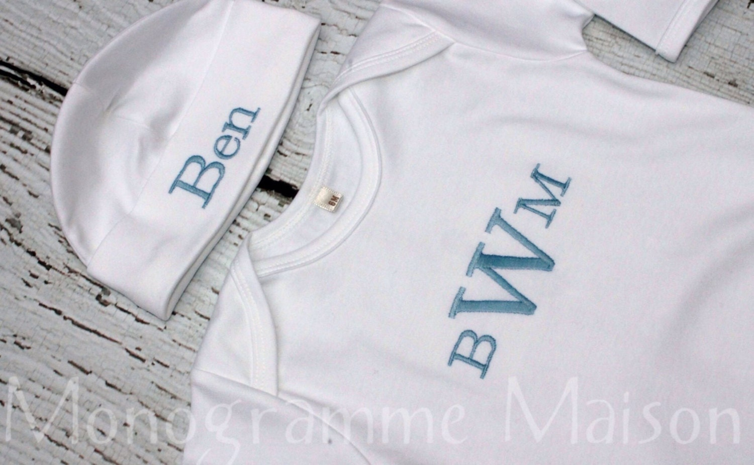 These newborn outfits make beautiful baby shower gifts and Gift wrapping is FREE!! Browse our personalized newborn gowns for boys and girls. Our infant layette sets by Paty Inc, and monogrammed newborn baby gowns are some of our best sellers and make perfect outfits for baby boy or girl to wear home from the hospital.