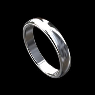 simple classic s wedding band ring in 14k white by orospot