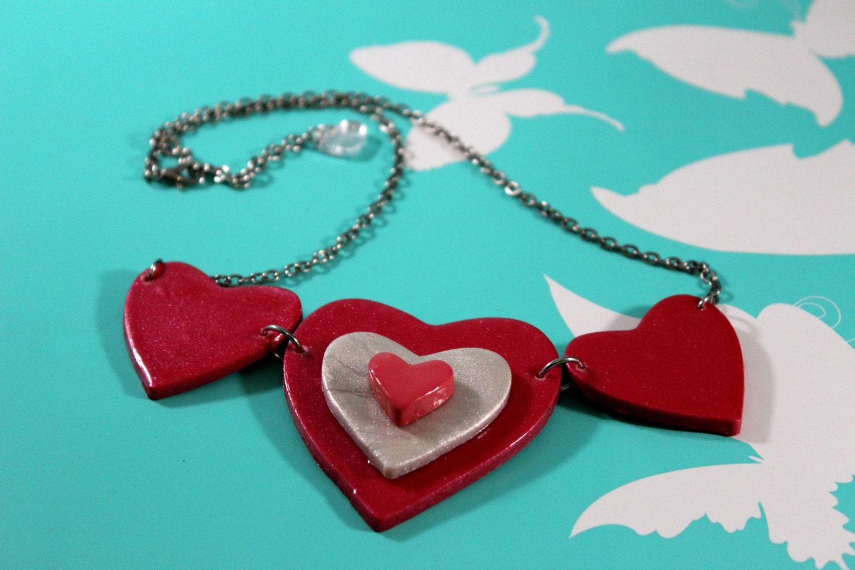 Heart Bib Necklace by Hey Dollface