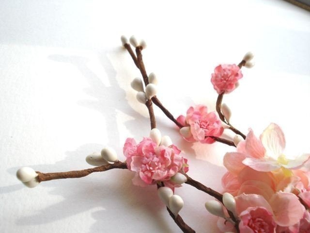 sakura branch - a cherry blossom hair clip