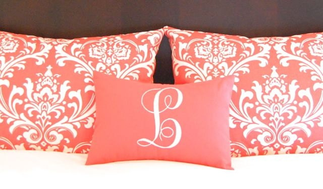 Pillow Shams Coral Decorative Throw Pillow by FestiveHomeDecor