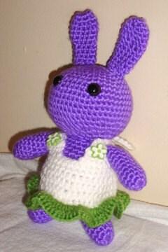 Amigurumi Purple Bunny