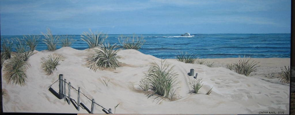 I painted the Manasquan Beach (New Jersey) dunes while fighting cancer.