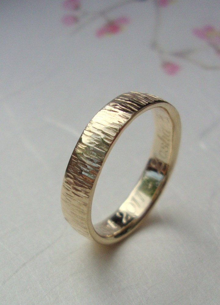 gold bamboo ring 10k band ring with bamboo by sheenajewellery