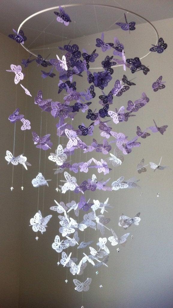 Сделать своими руками люстру с бабочками своими руками