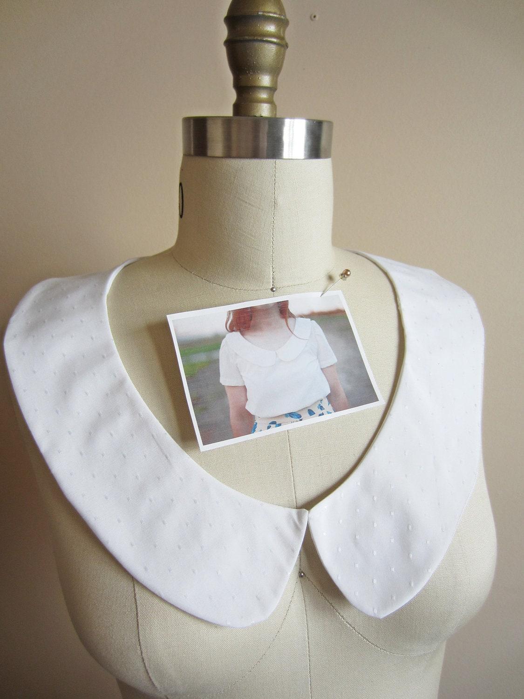 how to make a detachable peter pan collar