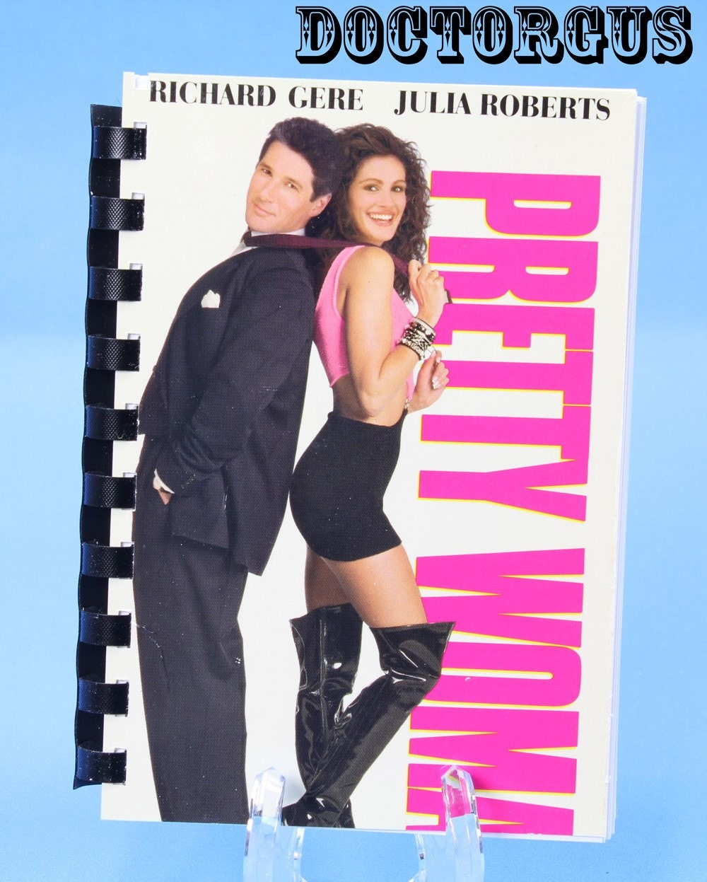 PRETTY WOMAN -- Recycled VHS Cover Notebook -- Upcycled Video Cassette Sleeve Sketchbook -- Reclaimed Tape Jackets by Doctorgus