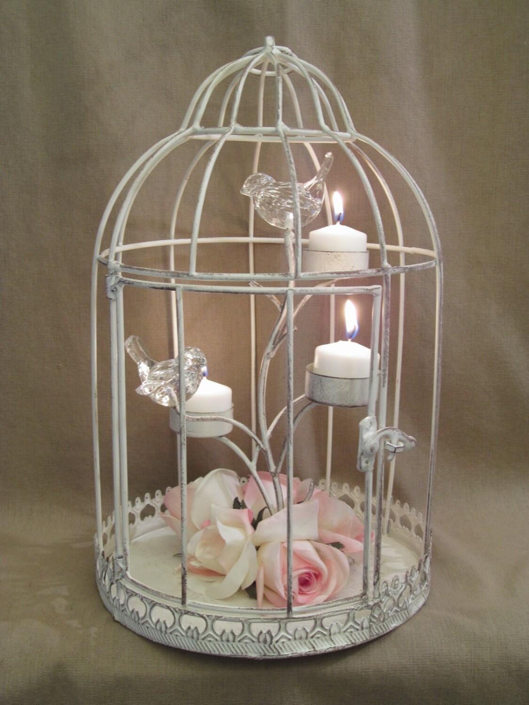 Bird cage centerpiece christmas