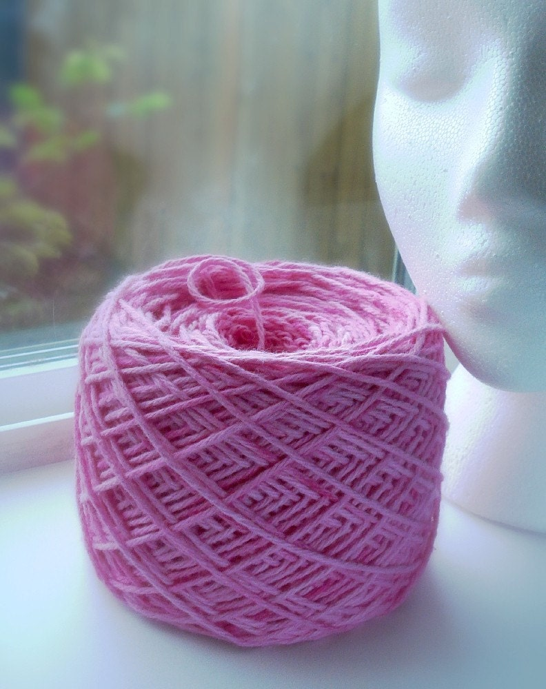 Strawberry Swirl Pink Color Hand Dyed Cotton Yarn