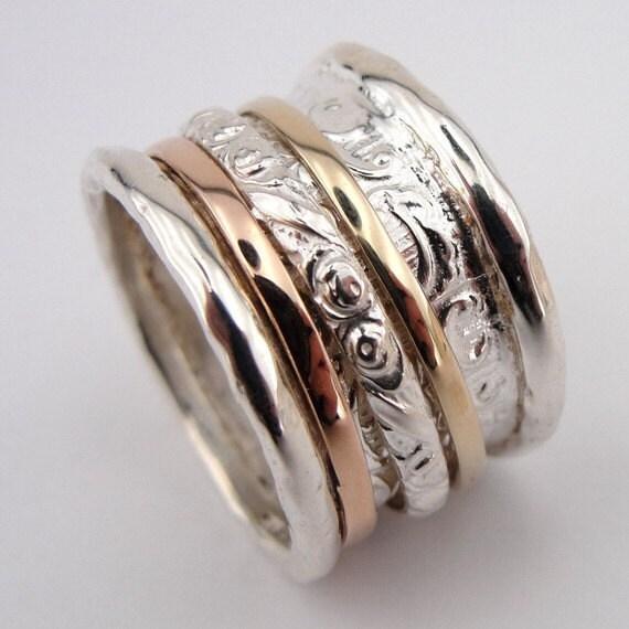 israeli spinner ring boho designer jewelry by