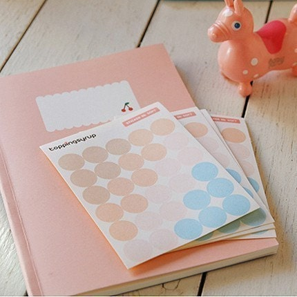 topping sticker - soft color (5sheets)