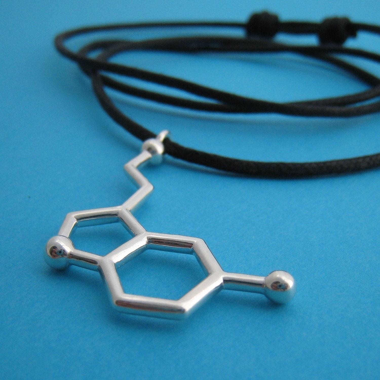 serotonin necklace - large size with adjustable black cord