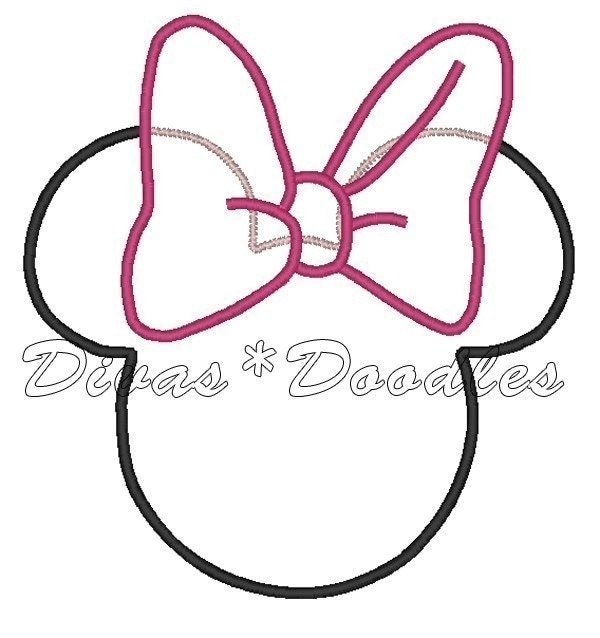 1000 images about minnie mickey cake themes on for Minnie mouse ear template