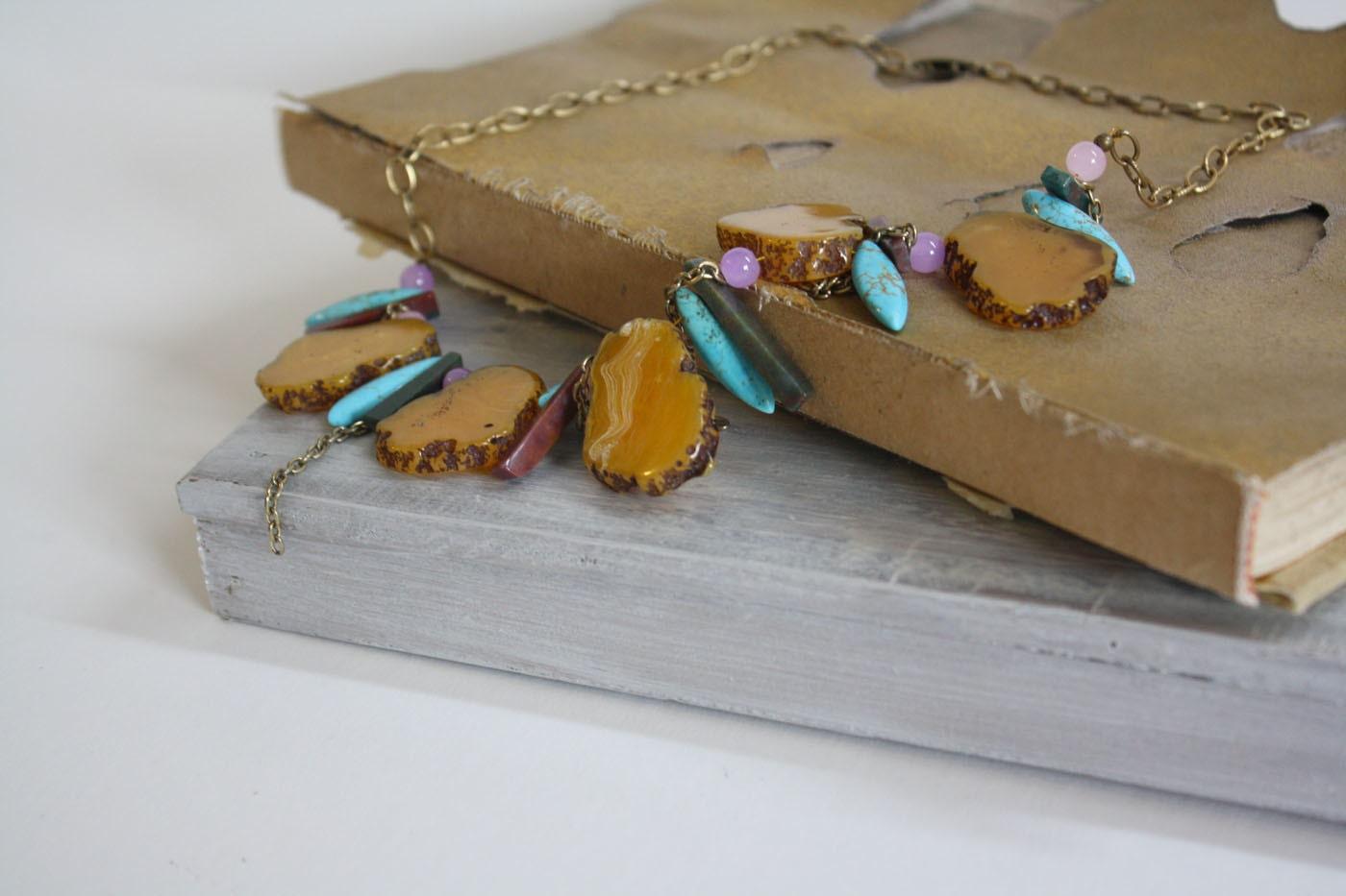 Tribal Goddess Gemstone Necklace