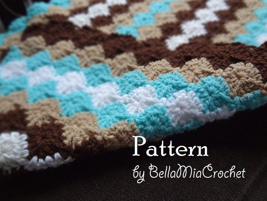 Crochet Baby Blanket Pattern Etsy : Crochet Baby Blanket Pattern by bellamiacrochet on Etsy