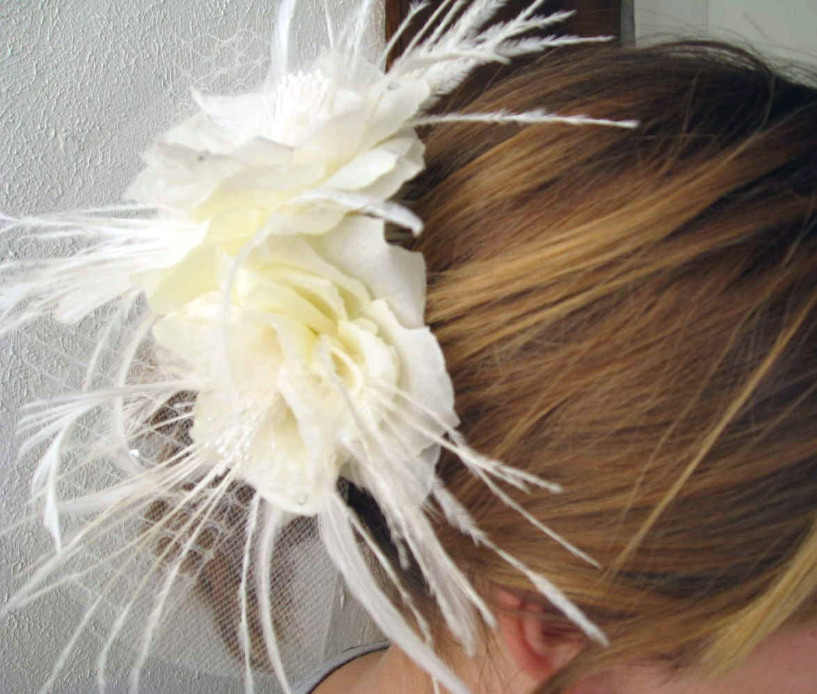 Silk Flower Wedding Comb