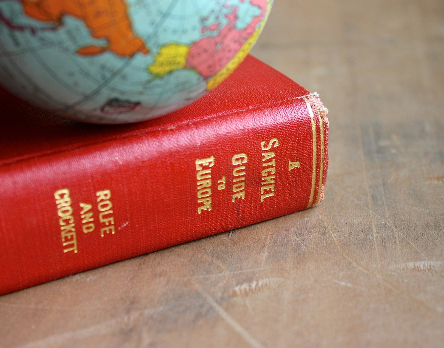 Off to Europe - Antique 1929 Guide to Europe - Vintage Book - Maps - Paris - Travel - Red - becaruns