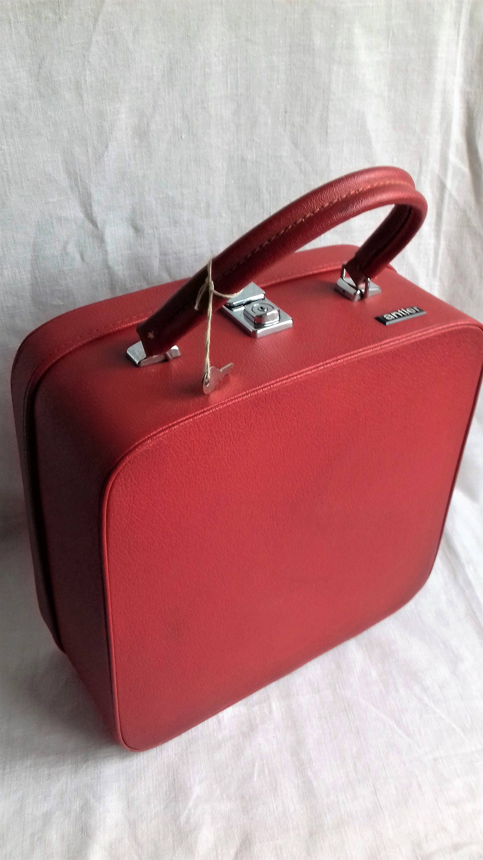 Lovely Cherry Red Vintage Antler Vanity Case