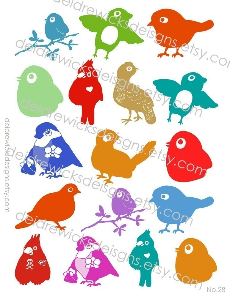 No.28 - BIRDS UNDRESSED - Clip Art
