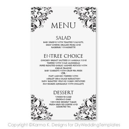 wedding menu card template download by diyweddingtemplates
