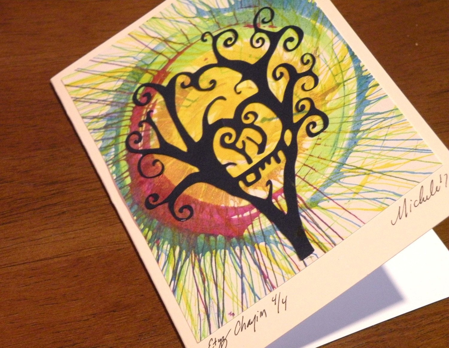 Ooak Tree of Life Greeting Cards, Set of 3