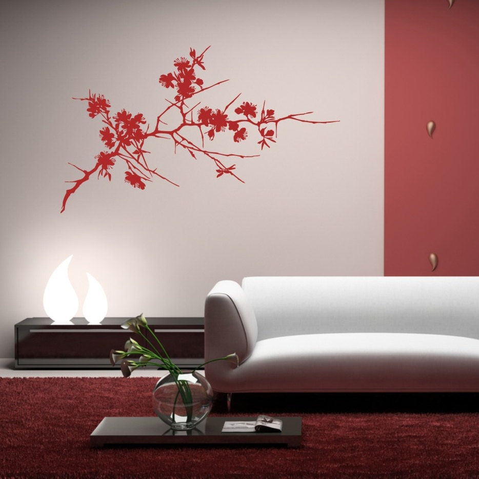 Items similar to japanese cherry tree xxl matte two for Decoration xxl