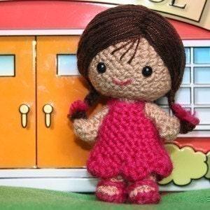 Crochet Pattern- Nichole the little girl amigurumi doll