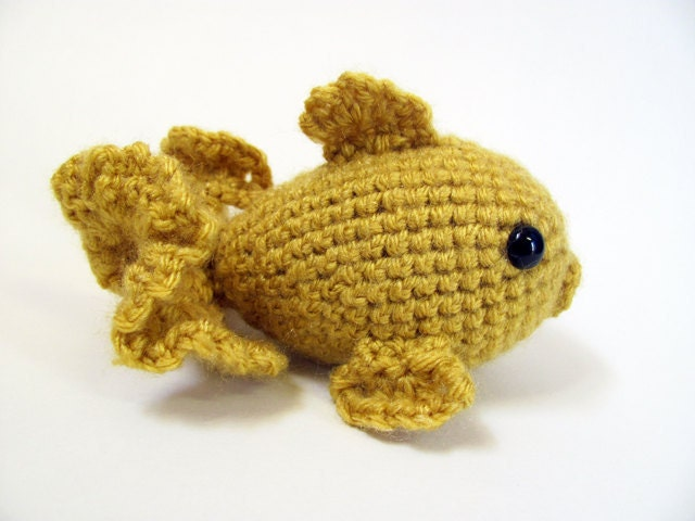 Amigurumi Askina Etsy : Amigurumi Goldfish CROCHET PATTERN by MevvSan on Etsy