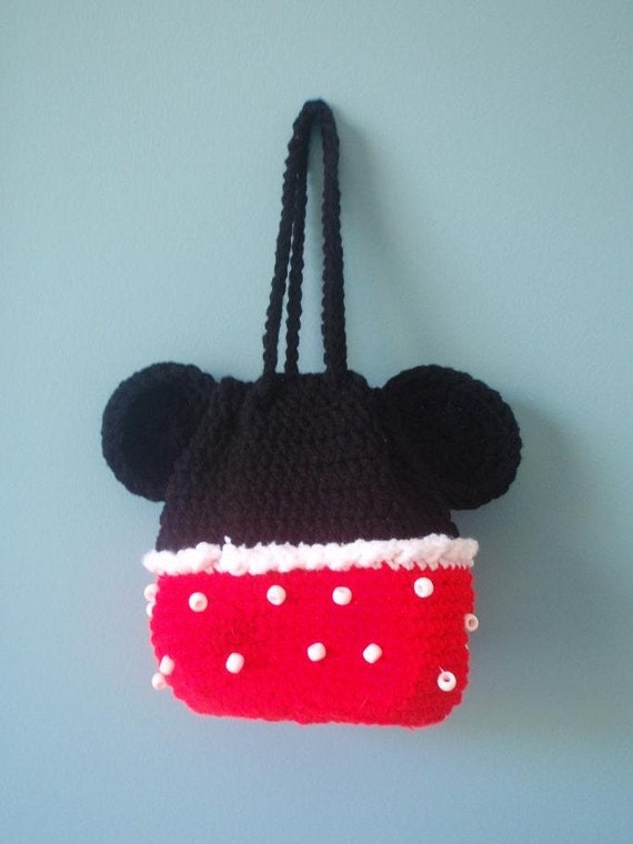 Free Crochet Mickey Mouse Purse Pattern : Etsy - Your place to buy and sell all things handmade ...