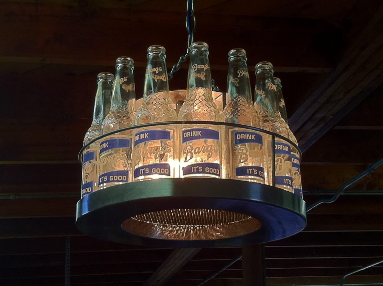 Items similar to glass bottle chandelier on etsy - Glass bottle chandelier ...
