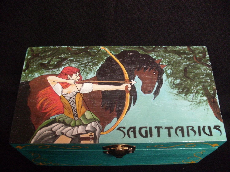Sagittarius Zodiac Trinket Box