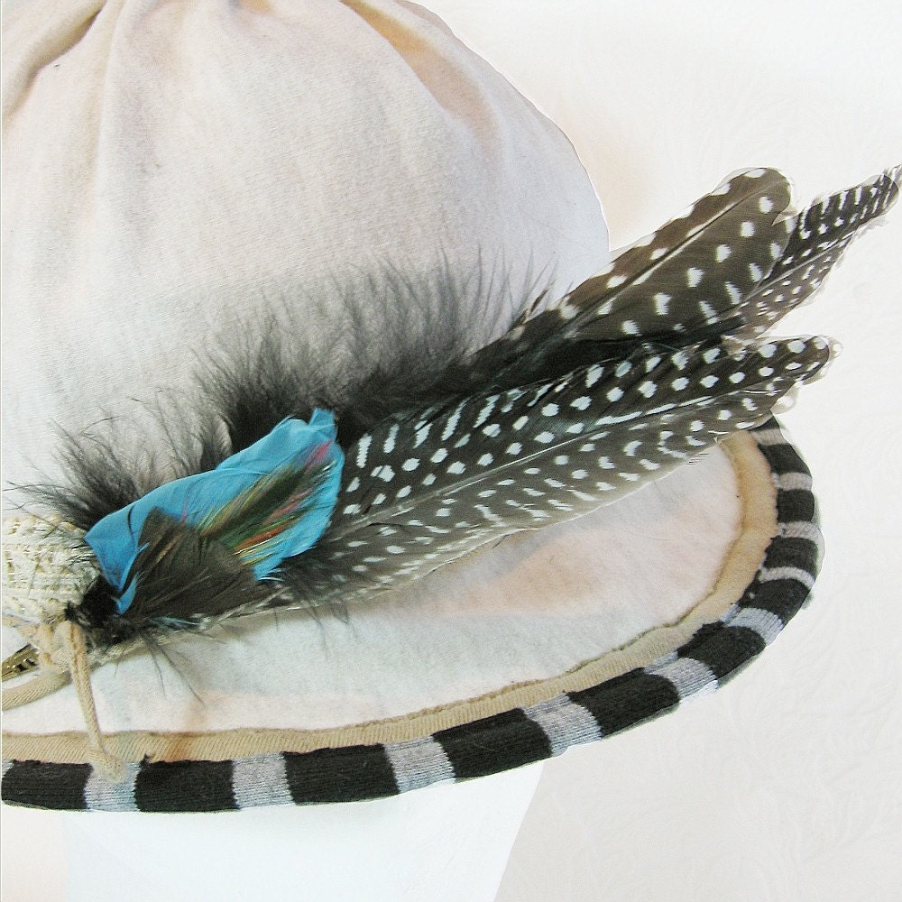 Recycled Cotton Brimmed Hat Edwardian Motoring Hat