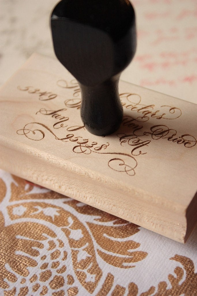 Calligraphy Stamp Extra Large By Edanae On Etsy