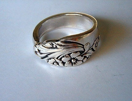 spoon ring recycled silverware jewelry ring by