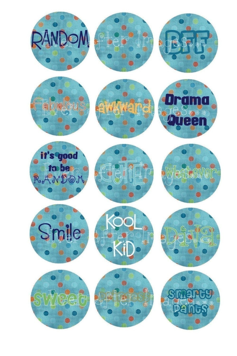 Dotty Teen Sayings Bottlecap Bottle Cap Images Graphics Collage