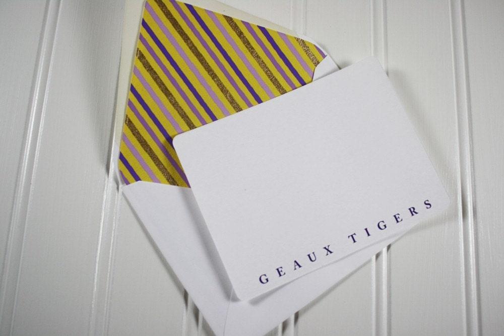 Geaux Tigers Note Cards