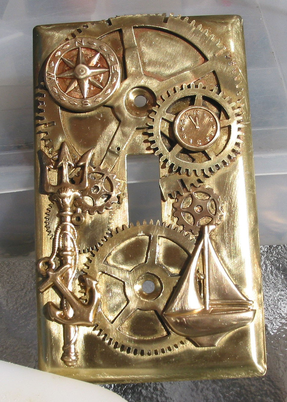 Steampunk Nautical Light Switch Plate By Steamheat On Etsy