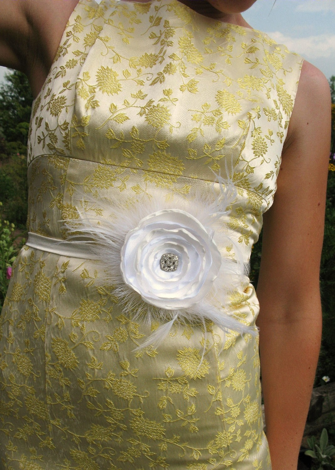 Wedded Bliss bridal skinny sash belt