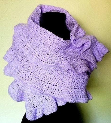 Ruffled Shawl Wrap Crochet Pattern PDF EASY by timaryart ...