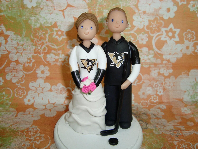wedding cake toppers hockey