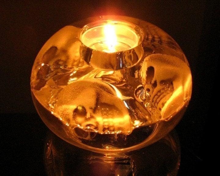 Skulls R.I.P Candle Holder