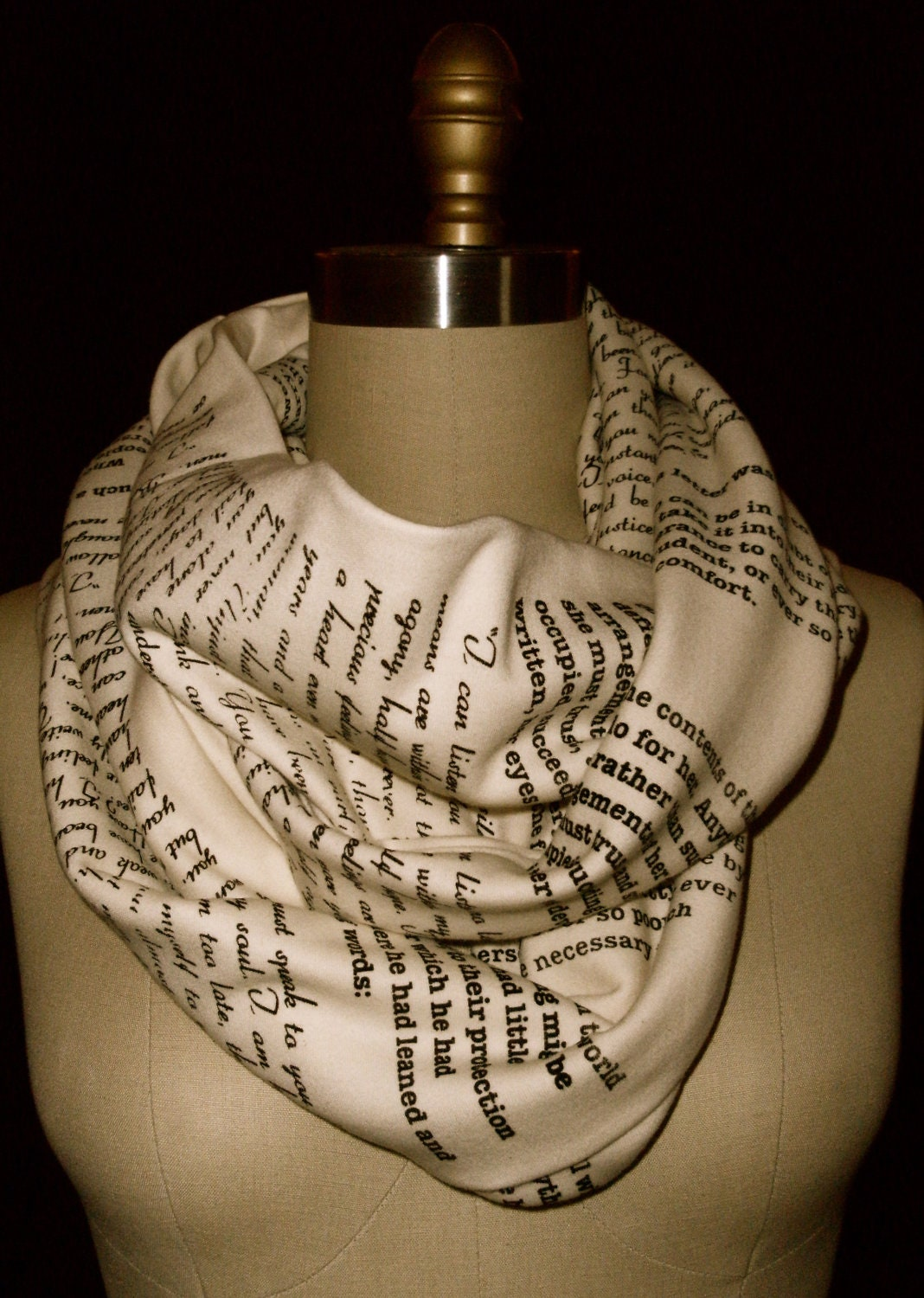 Wrap Up With A Good Book Scarf: Persuasion by Jane Austen