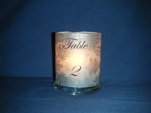Small Table Number Luminary