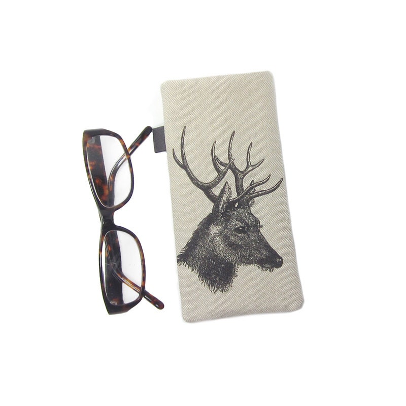 Stag Glasses Case Birthday Gift for Him Sunglasses Pouch Reading Glasses Holder