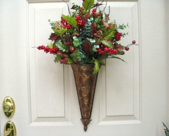 Winter wreaths christmas wreath for front door by for Front door xmas wreaths
