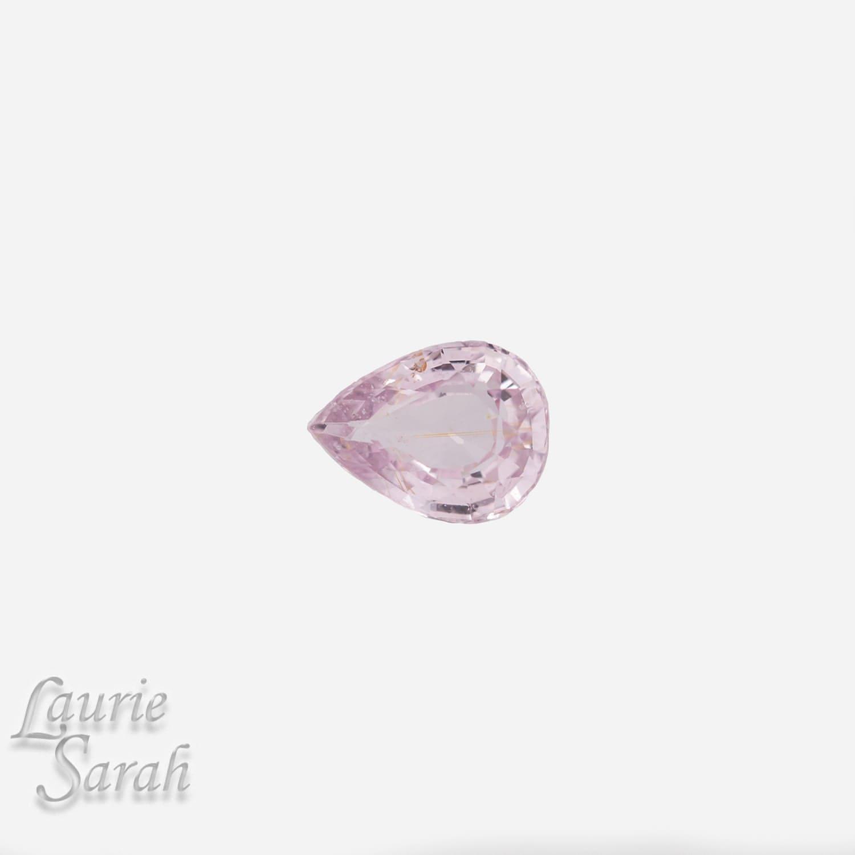 light pink sapphire pear cut gemstone by lauriesarahgems