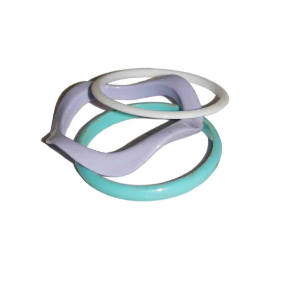 vintage pastel wavy bracelets