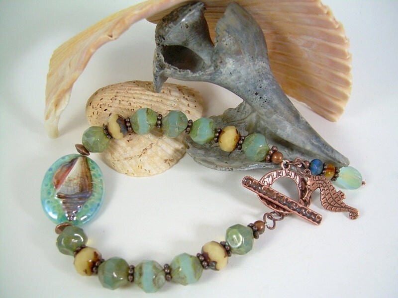 Seabreeze - Picasso Ceramic and Copper Bracelet